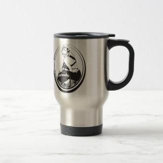 A mug! drink serious camp! travel mug