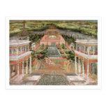 A Mughal Princess in her Garden (gouache on paper) Postcard