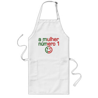 A Mulher Número 1 - Number 1 Wife in Portuguese Long Apron