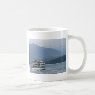 A multi-level tourist cruise ship in Switzerland Coffee Mug
