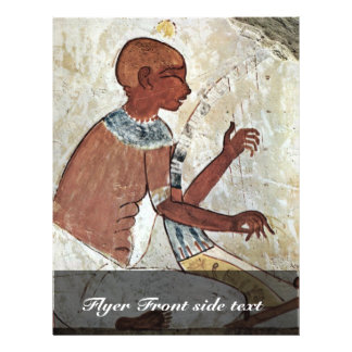 A Mural Of A Blind Musician Playing A Harp From Th 21.5 Cm X 28 Cm Flyer