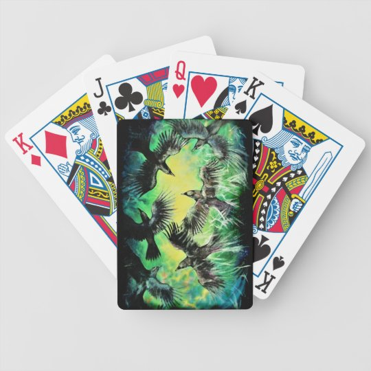 A Murder of Crows Bicycle Playing Cards