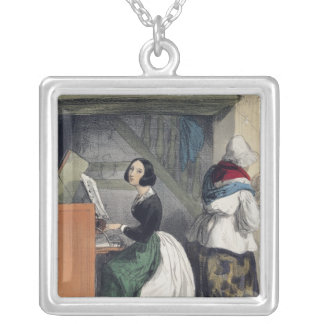 A Music School Pupil, from 'Les Femmes de Silver Plated Necklace