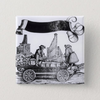 A Musical Carriage 15 Cm Square Badge