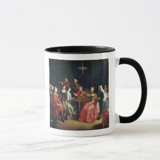 A Musical Evening (oil on canvas) Mug