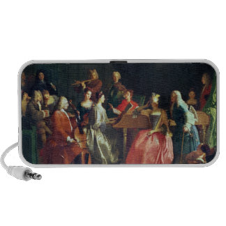 A Musical Evening (oil on canvas) iPhone Speaker
