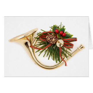 A musical instrument Christmas ornament Card