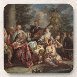 A Musical Interlude on a Patio (pair with 59639) Drink Coaster