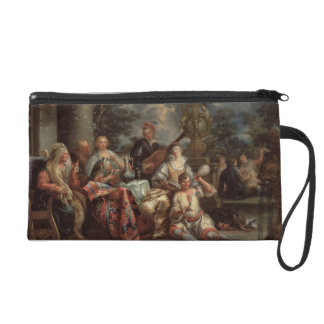 A Musical Interlude on a Patio (pair with 59639) Wristlet Clutches