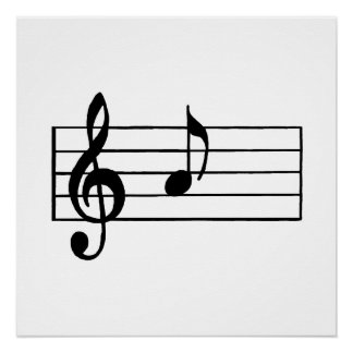 'A' Musical Note