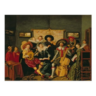 A Musical Party, c.1625 Postcard