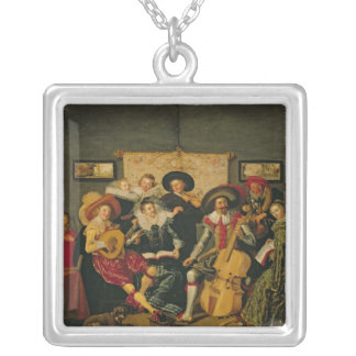 A Musical Party, c.1625 Silver Plated Necklace