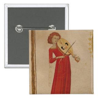 A Musician, from 'De Musica' by Boethius 15 Cm Square Badge