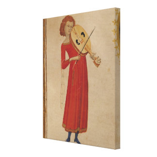 A Musician, from 'De Musica' by Boethius Canvas Print