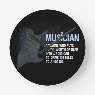 A Musician is… Round Clock