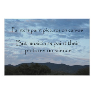A Musician's Canvas 36 x 24 Poster