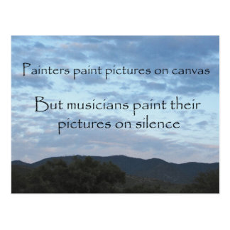 A Musician's Canvas Postcard