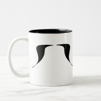 A Mustache a Day Two-Tone Coffee Mug