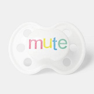 A Mute Button Pacifier