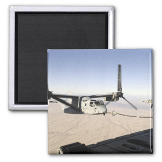 A MV-22 Osprey refuels midflight Refrigerator Magnet