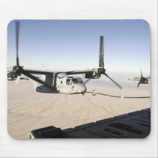 A MV-22 Osprey refuels midflight Mouse Pad