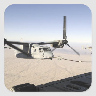 A MV-22 Osprey refuels midflight Sticker