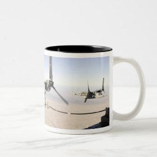A MV-22 Osprey refuels midflight Two-Tone Coffee Mug