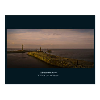 A Mystical Evening On Whitby Pier Postcard