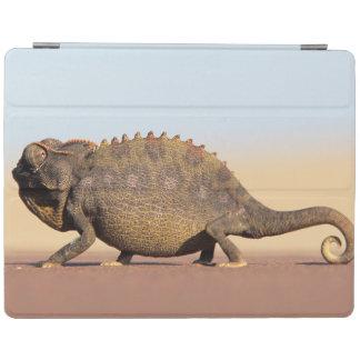 A Namaqua Chameleon walking across a sandy plain iPad Cover