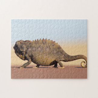 A Namaqua Chameleon walking across a sandy plain Jigsaw Puzzle