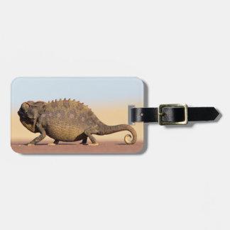 A Namaqua Chameleon walking across a sandy plain Luggage Tag