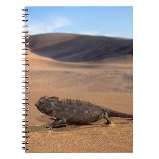 A Namaqua Chameleon walking Notebook
