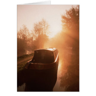 A narrowboat on the Oxford canal Greeting Card