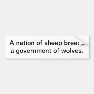 A Nation Of Sheep Bumper Sticker