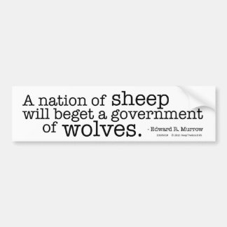 A Nation of Sheep Bumper Sticker