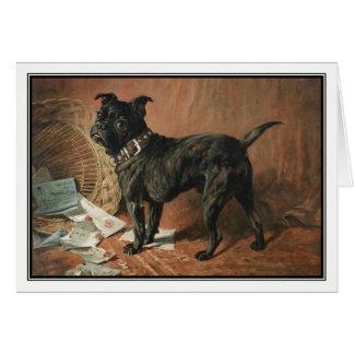 A Naughty Black Pug by John Emms Card