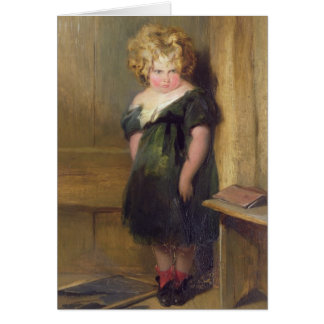 A Naughty Child (oil on canvas) Card