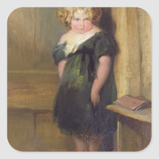 A Naughty Child (oil on canvas) Square Sticker