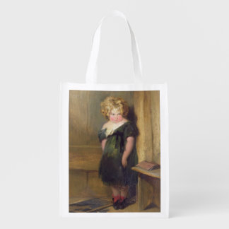 A Naughty Child (oil on canvas) Grocery Bags