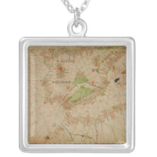 A nautical atlas silver plated necklace