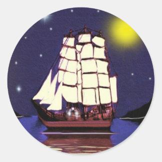 A Nautical Dream Round Sticker