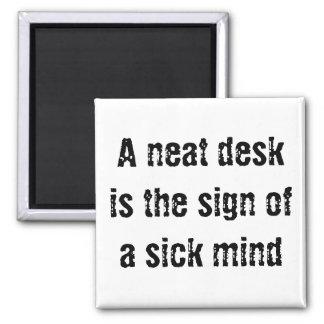 A Neat Desk Square Magnet