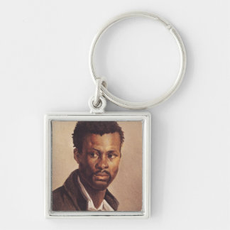 A Negro, 1823-24 Silver-Colored Square Key Ring