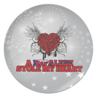 A Nepalese Stole my Heart Party Plates