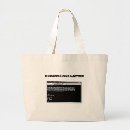 A Nerd Love Letter Tote Bags