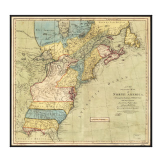 A new and accurate map of North America (1771) Gallery Wrapped Canvas