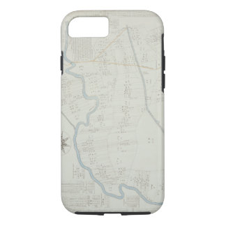 A New and Correct Map of Hackney Marsh, 1745 (lith iPhone 8/7 Case