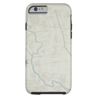 A New and Correct Map of Hackney Marsh, 1745 (lith Tough iPhone 6 Case