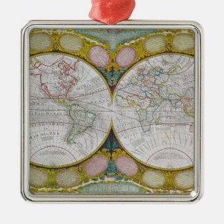 A New and Correct Map of the World, 1770-97 Christmas Ornament