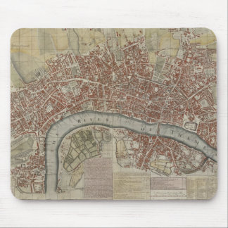 A New and Exact Plan of the Cities of London and W Mouse Mat